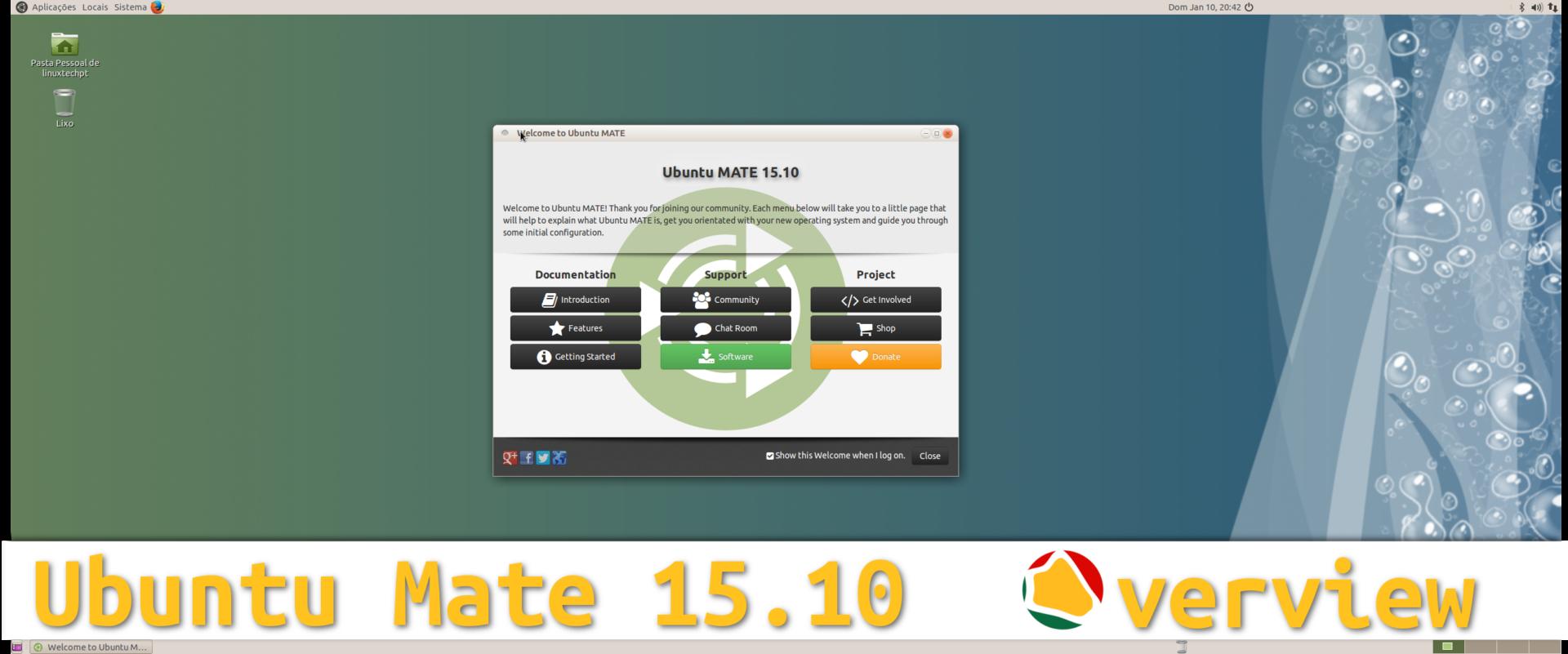 Ubuntu Mate 15.10 – Visão Geral