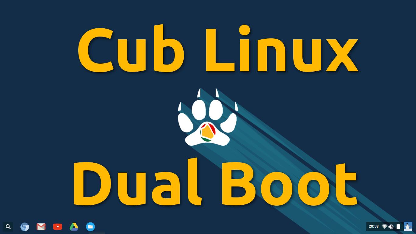 Cub Linux – Como fazer dual Boot