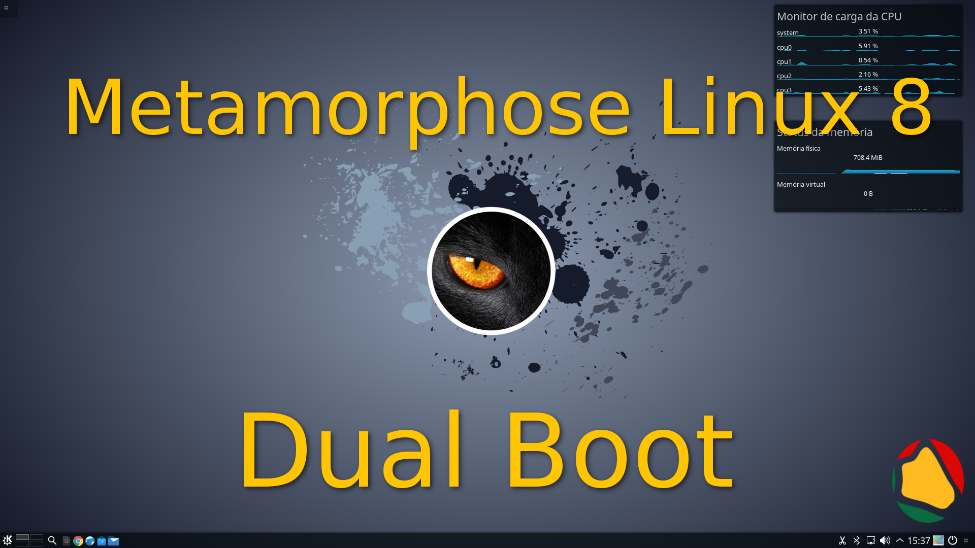 Metamorphose Linux 8.0.4  Panther – Instalação Dual Boot