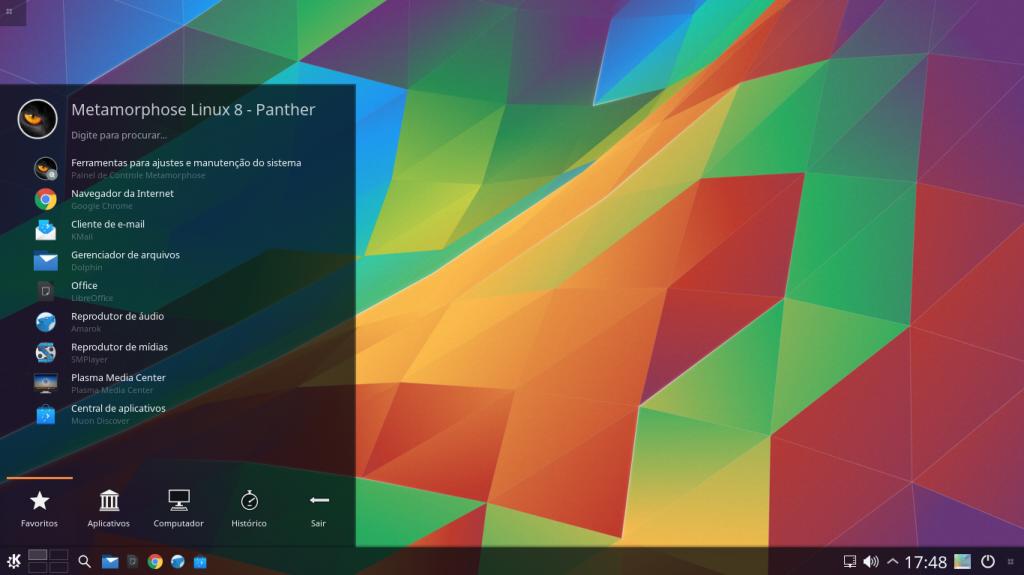 Metamorphose 8.0.4 Panther – Uma distribuição vinda do brasil
