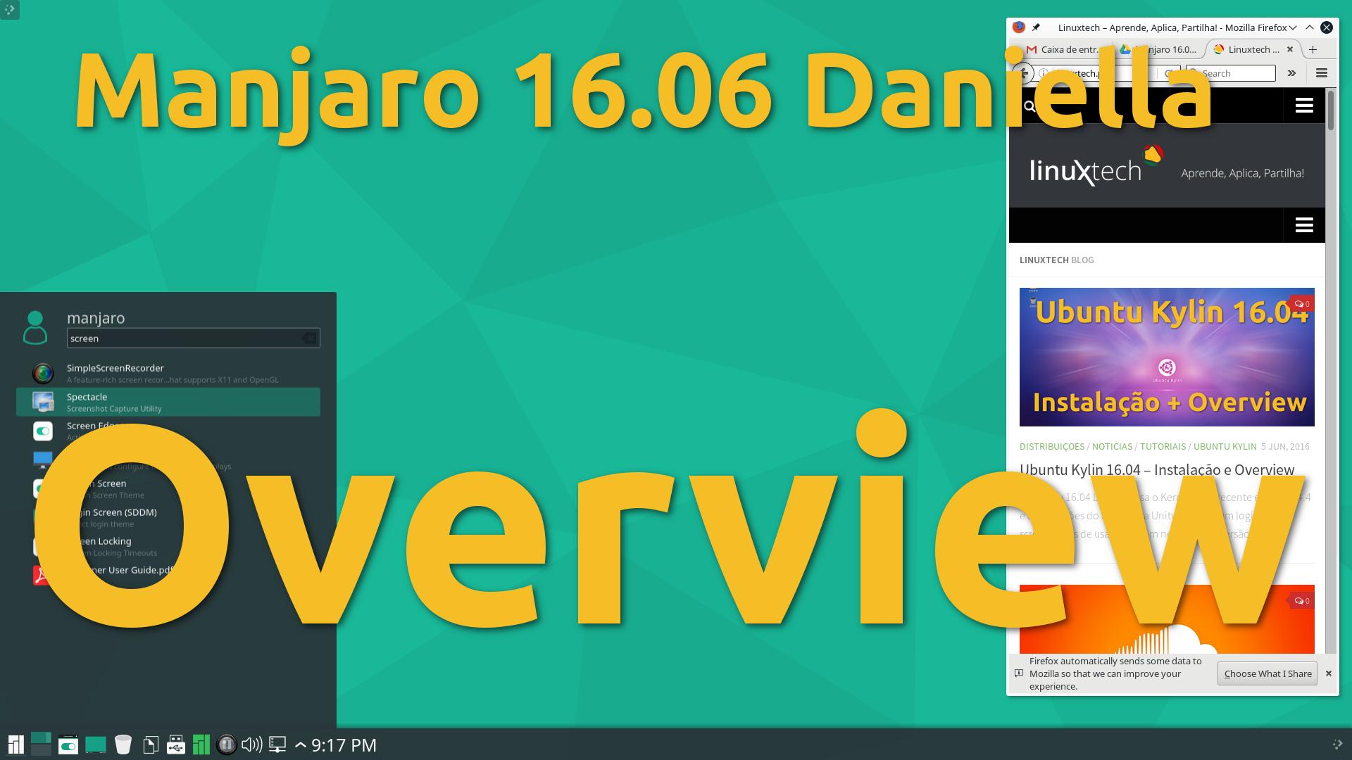 Manjaro 16.06 (Daniella) – Versão estável