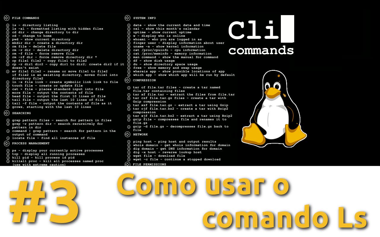 EP 18 [Terminal linux básico] – Como usar o comando Ls