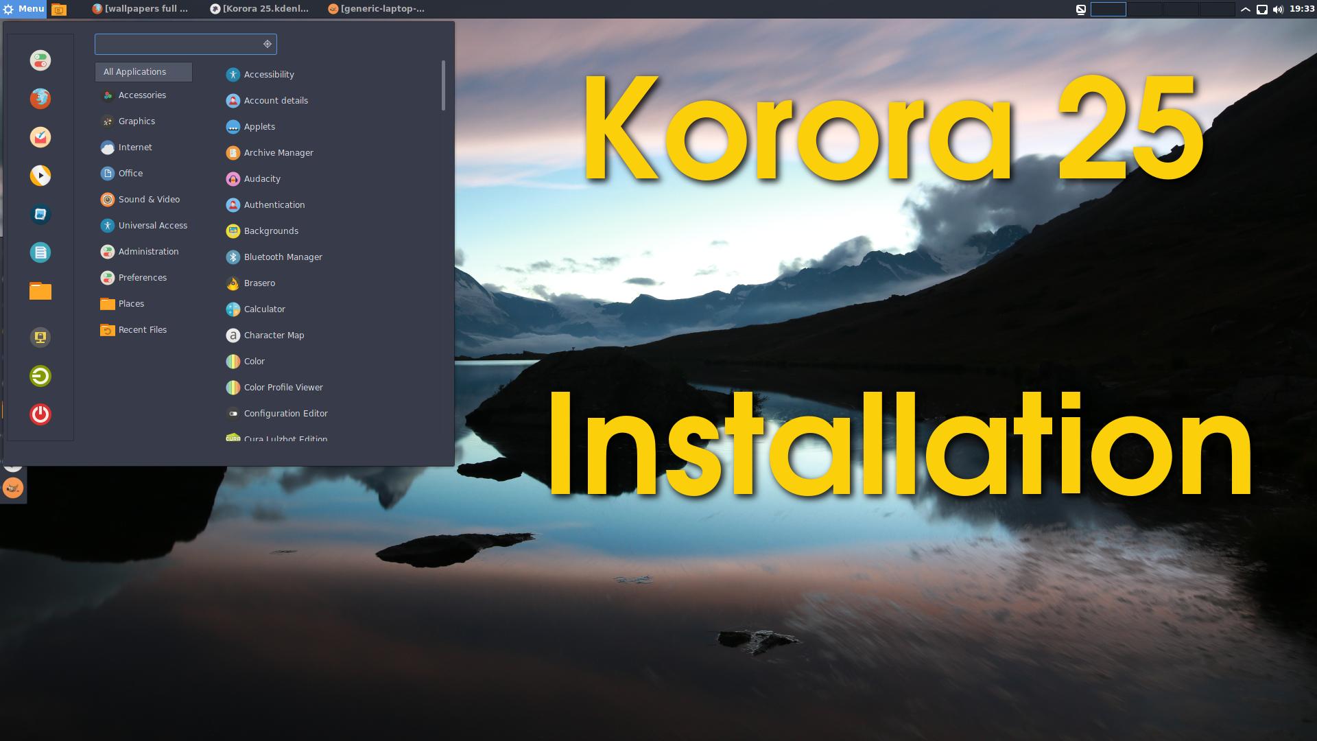 Korora 25 Cinnamon Instalação