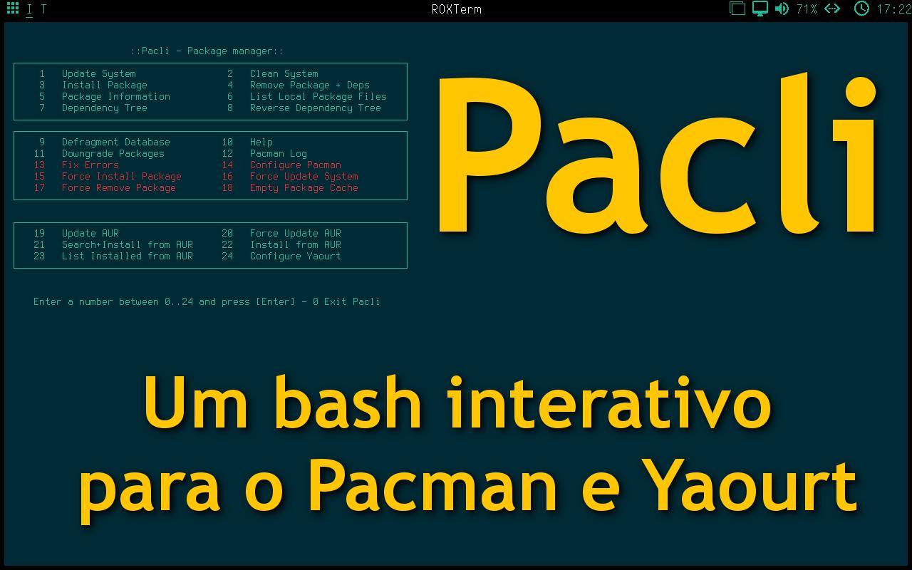 Pacli – Um bash interativo que deve usar no Manjaro