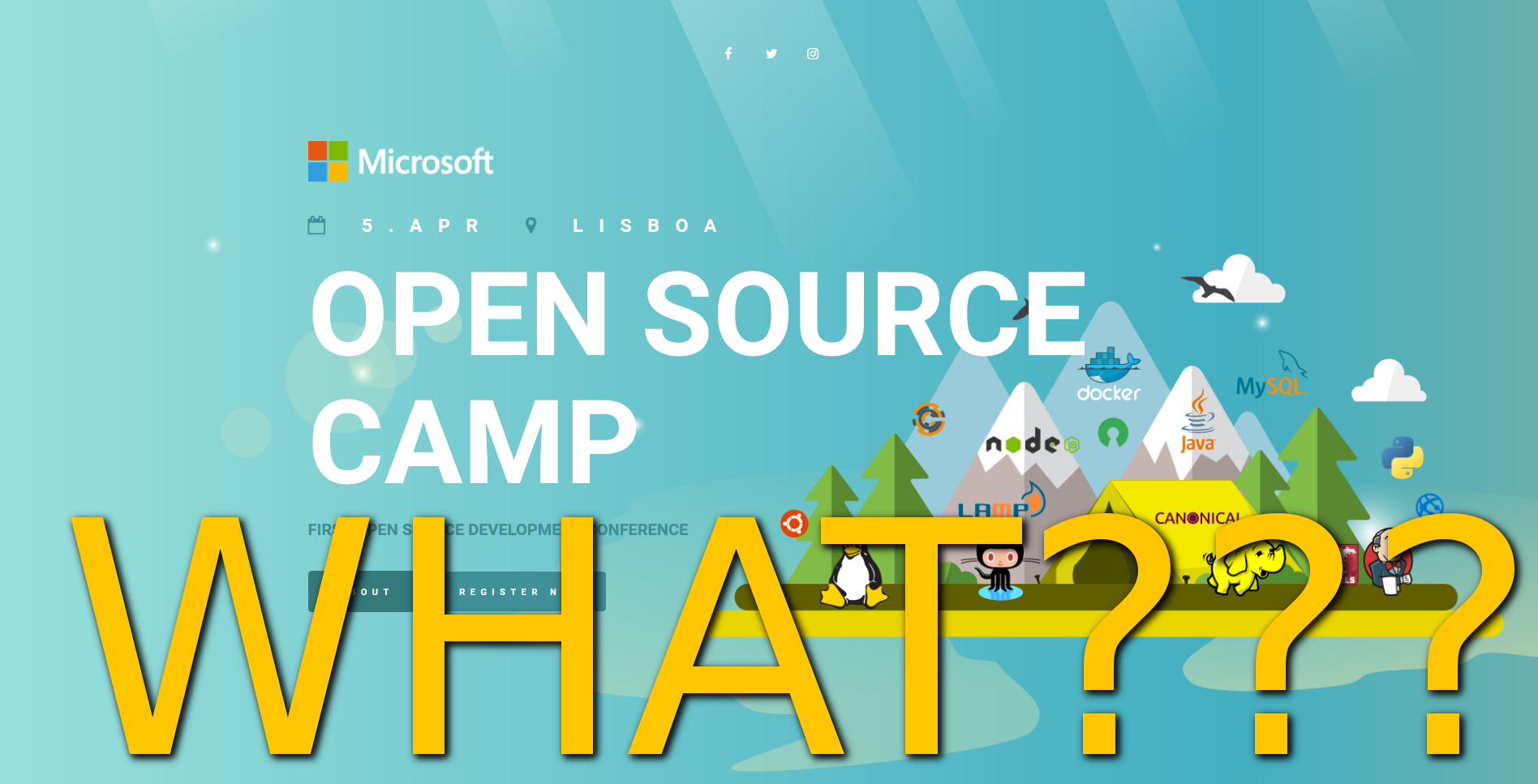 Microsoft Opensource Camp em Portugal – WHAT?????